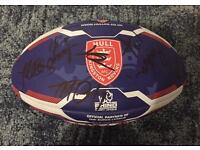 Hand signed Hull KR Rugby Ball