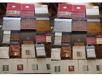 FABRIC SAMPLES BOOKS VARIOUS SIZES, Chivasso, Nordiska, Taffetas2, SAHCO Set, James Brindley etc