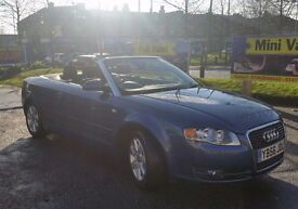 Audi A4 Convertible, 2007 ( 56 Plate ). FSH, New MOT, Serviced and Valeted