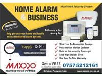 Burglary wireless alarm system ( warranty & receipt)