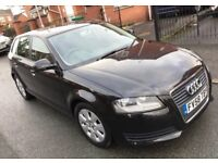 2009 Audi A3 1.9TDI E Sportback 5dr BLACK DIESEL £30TAX A YEAR 1,OWNER 3 MONTHS WARRANTY