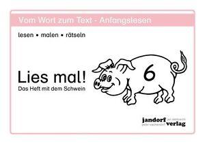 Lies mal! Heft 6 - Das Heft mit dem Schwein von Jan Debbrecht NEU!!