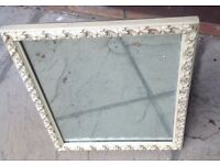 Antique Style Cream Framed Stand up Mirror (Dressing Table)