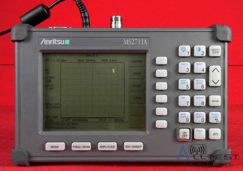 Anritsu MS2711A Handheld Spectrum Analyzer 100 kHz to 3 GHz
