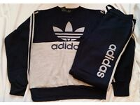 NEW ADIDAS TRACKSUIT - NEW WITH TAGS - NAVY COLOR - SIZE: MEDIUM, LARGE & XL AVAILABLE