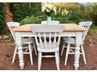 Pine Farmhouse Table & Chairs
