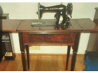 1940s vintage SINGER foldaway electric sewing machine
