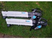 2x blower and vacuum & electric lawn mower