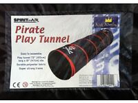 PIRATE PLAY TUNNEL ( SPIRIT OF THE AIR ) NEW, UNUSED. - bargain just £ 5