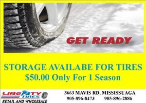 TIRE STORAGE AVAILABLE For Just $50.00 For 1 Season@LIBERTY TIRES MISSISSAUGA