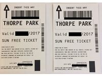 **BANK HOLIDAY** 2x Tickets to THORPE PARK for 28th August (26/08/2017) ACTUAL TICKETS!!!