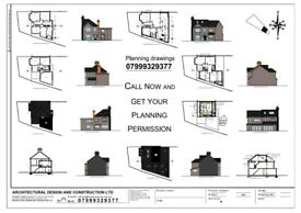 DRAWINGS FOR PLANNING, Architectural Services, Planning permissions, Building Control Regulation.