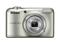 "NIKON COOLPIX L31 COMPACT DIGITAL CAMERA SILVER 16.1MP 5 X ZOOM 2.7"" LCD 16MP used twice box, lead"