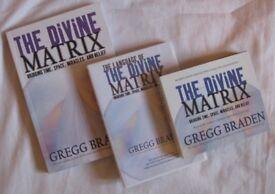 The Divine Matrix DVDs 4 hr film, h/copy Book & Audio book 4CDs by Gregg Braden