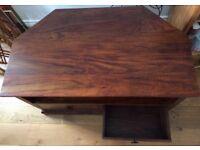 John Lewis Solid dark wood TV stand
