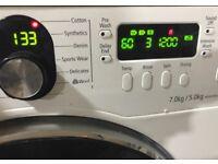 Samsung inverter 7kg timer display new model washer dryer for sale