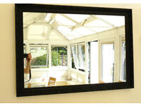 Vintage Black Rectangular Mirror in an attractive embossed frame (Ref 202)