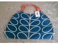 New Orla Kiely Large Holdall Shoulder Bag Linear Print Blue