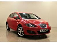SEAT LEON 1.6 CR TDI ECOMOTIVE SE 5d 103 BHP + 1 PREVIOUS OWNER FROM NEW (red) 2011