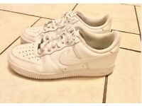 Nike Air Force one white trainers size 11