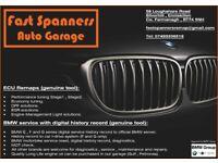 ECU Remap. BMW digital service history.