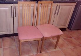 Set of 6 chairs.