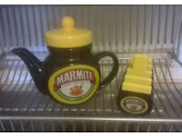 Marmite Teapot and Toast Rack Never used, excellent condition £10