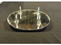 Mirrored round 4 LED ceiling light