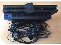 PS2 w/ Controllers, Games & DVD Remote