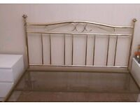 Gold Metal Double Bedframe