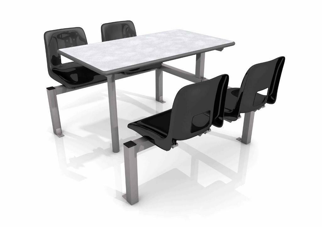2 x Fast food table and 4 chairs