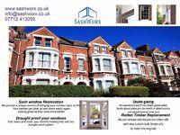 Sash Windows Refurbishment&Double glazing&Draughtproofing