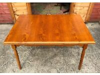 Oak Dining Table Extendable Drawer Leaf Table Seat 6 - Delivery Available