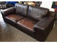 Dark brown 2 seater sofa DELIVERY AVAILABLE