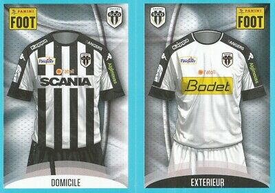 007-008 SHIRT MAILLOT HOME AWAY KIT # SCO.ANGERS STICKER FOOT 2017 PANINI image