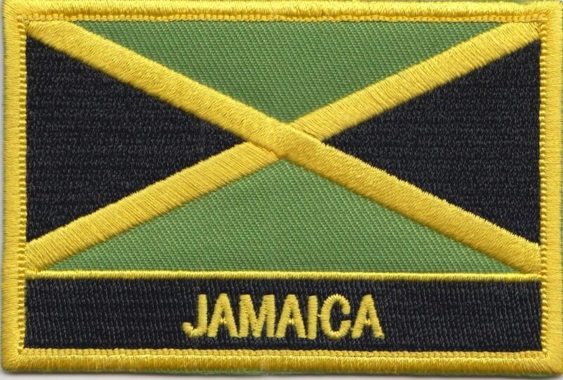 Jamaica Flag Embroidered Patch - Sew or Iron on