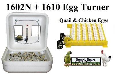 New GQF 1602N Egg Incubator w/ 1610 Egg Turner Quail, Chicken, Duck Hova-Bator