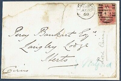Hugh Cairn, 1st Earl Cairns, Lord Chanceller 1868 Autographed Front