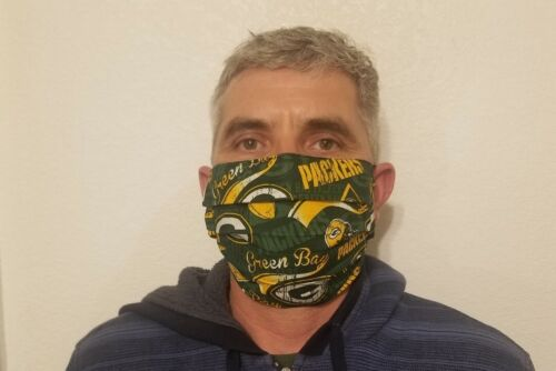 HAND MADE NFL PACKERS GREEN BAY FACE MASK , Handmade IN USA.