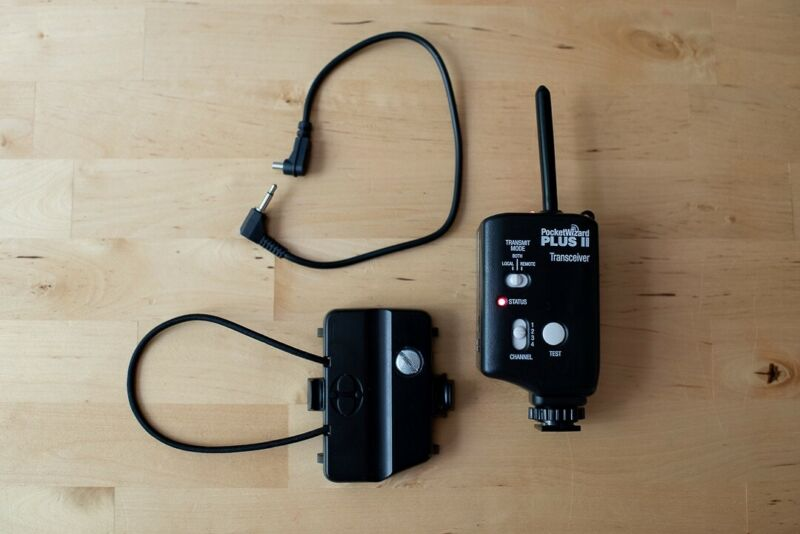 Pocket Wizard Plus II with/ transceiver caddy