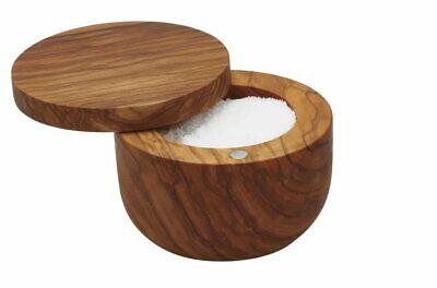 Bisetti 63103 Olive Wood Salt Keeper Brown, -
