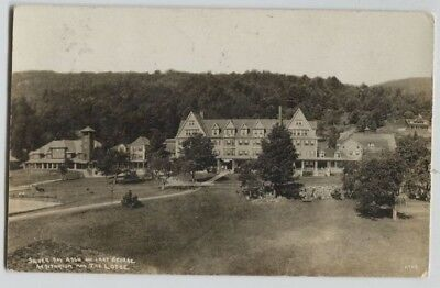1910 Era Silver Bay Assn Lodge Lake George New York Real Photo Rppc