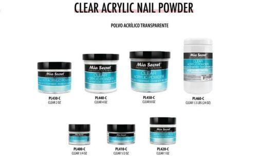 Mia Secret Acrylic Nail Powder Professional Nail System Clea
