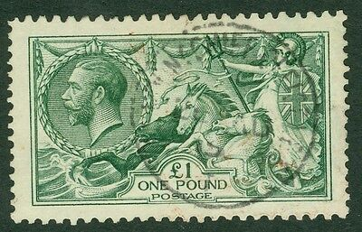 SG 403 £1 green. A very fine used CDS example. Good colour & clean reverse