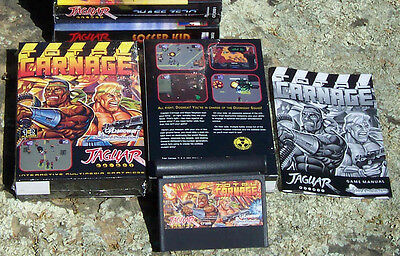 Total Carnage Atari Jaguar Cart New In the Box! NIB