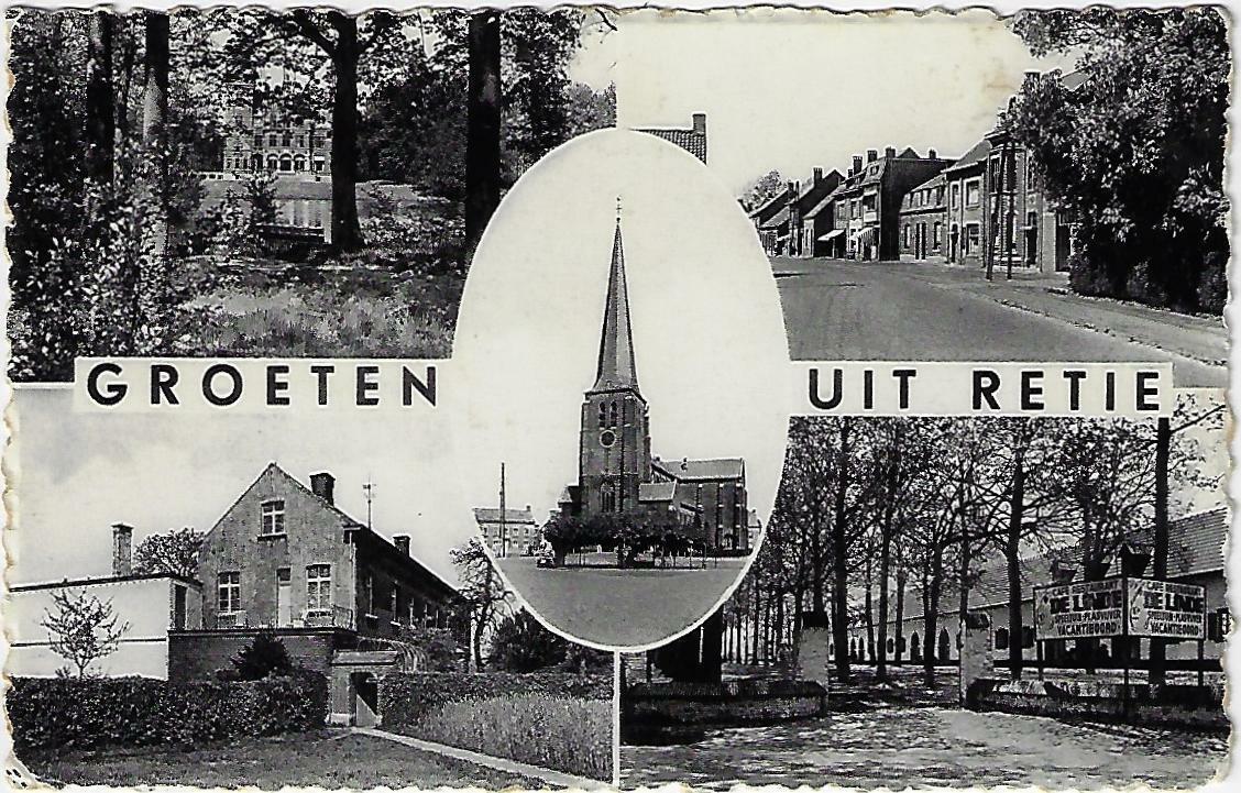 Postkaart Retie Groeten uit