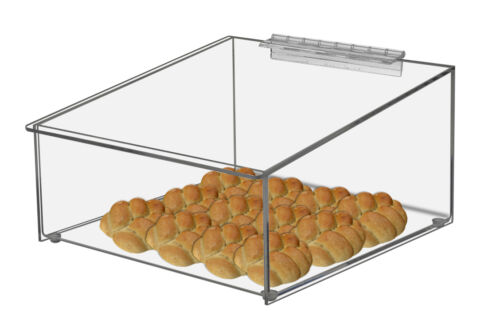Bread Bin Food Retail Container Box Acrylic