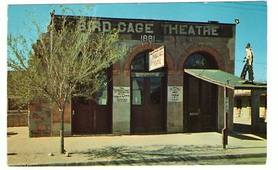 Undated Unused Postcard Famous Bird Cage Theatre Tombstone Arizona AZ