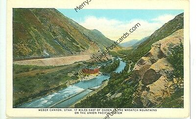 Weber Canyon  Utah Wasatch Mountains Union Pacific System W B  Rr2 155