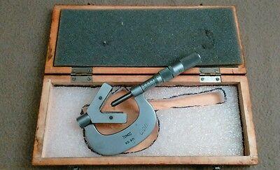 Scherr Tumico 571 .100-1 V-anvil Micrometer Calipers Lathe